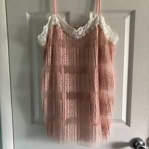 Tops - Boutique Lace Sheer Tunic Tank